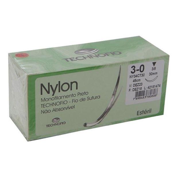 Fio-de-Sutura-3-0-Nylon-cx-c--24-uni-3-8-Technofio